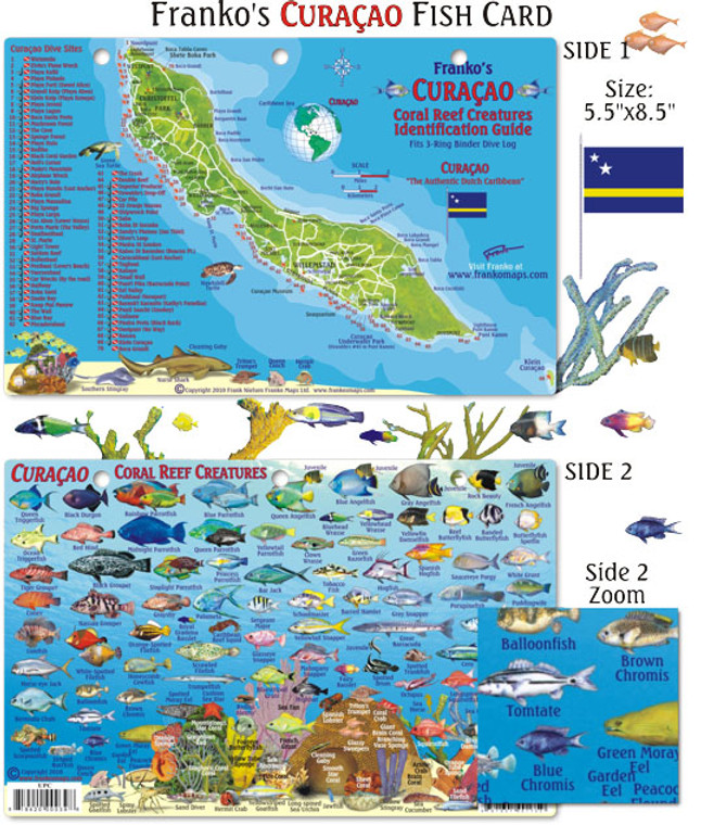 Franko Maps Curacao Reef Creatures Fish ID for Scuba Divers and Snorkelers