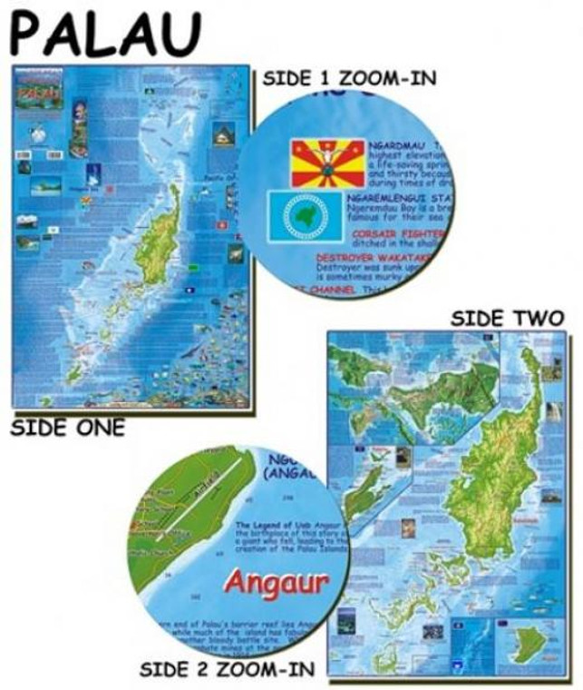Franko Maps Palau Map for Scuba Divers and Snorkelers