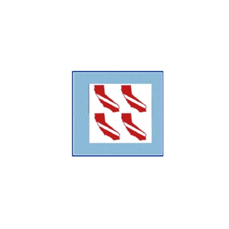 California Dive Flag 4 Mini-Decals