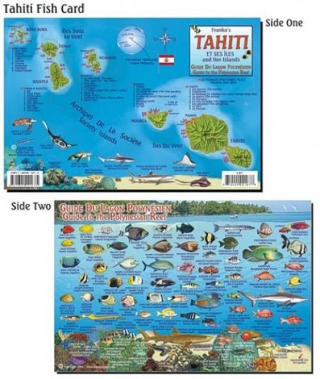 Franko Maps Tahiti Reef Creatures Guide for Scuba Divers and Snorkelers