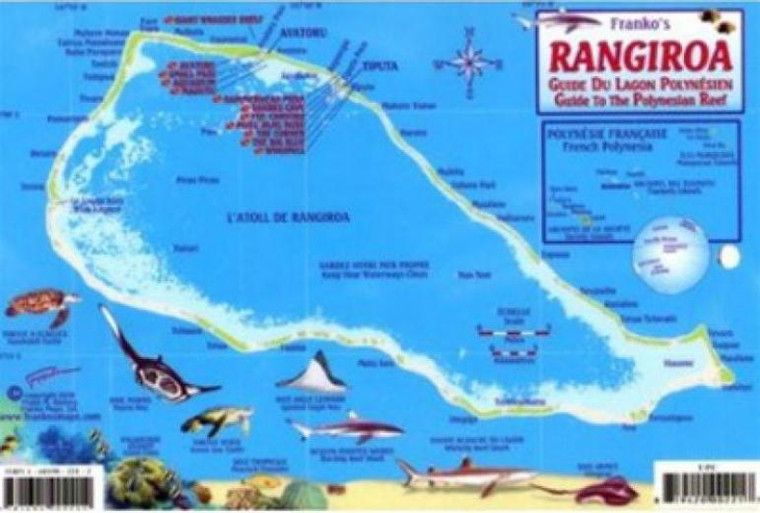 Franko Maps French Polynesia Reef Creatures Guide- Scuba Divers and Snorkelers