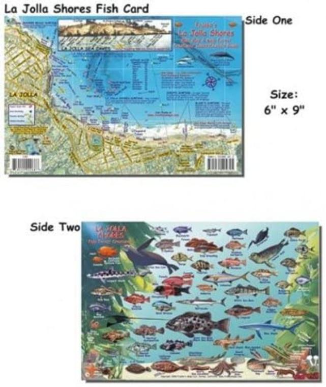 Franko Maps La Jolla Shores Fish ID for Scuba Divers and Snorkelers