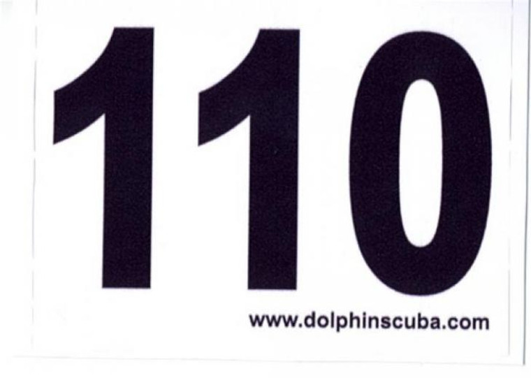 MOD Decal for 110Ft for Technical Nitrox Scuba Divers
