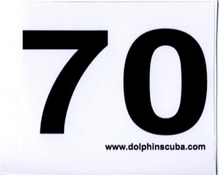 MOD Decal for 70Ft for Technical Nitrox Scuba Divers