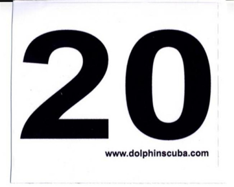 MOD Decal for 20Ft for Technical NitroxScuba Divers