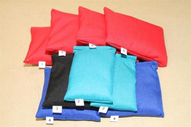 Scuba BCD Cordura Lead Weight Bag Packages - 35lbs (4x5lb, 2x4lb, 1x3lb, 2x2lb)