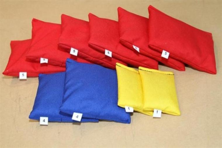 Scuba BCD Cordura Lead Weight Bag Packages -  40lbs (6x5lb, 2x4lb, 2x1lb)