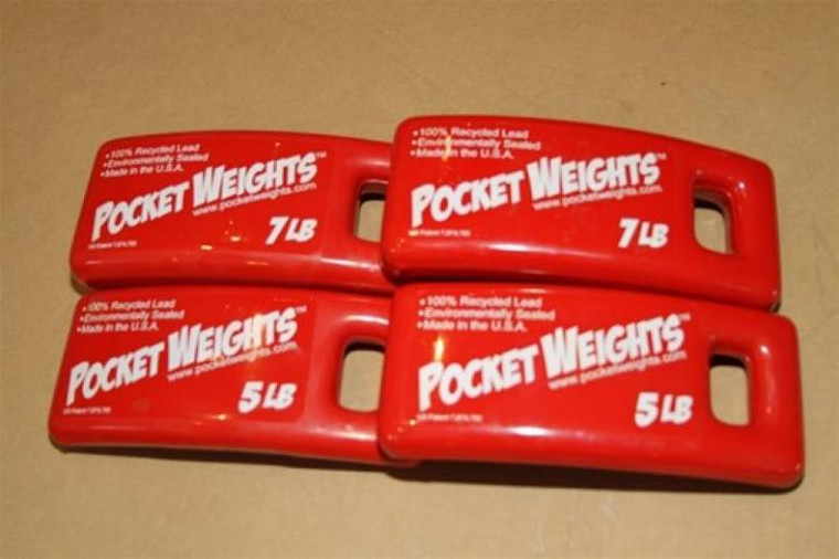 Scuba BCD Pocket Lead Weight Packages - 24lbs (2x5lb, 2x7lb)
