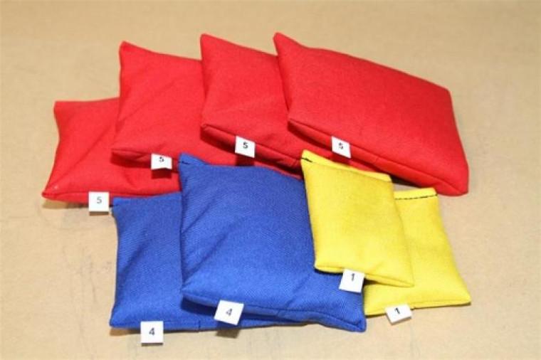 Scuba BCD Cordura Lead Weight Bag Packages - 30lbs (4x5lbs, 2x4lbs, 2x1lbs)