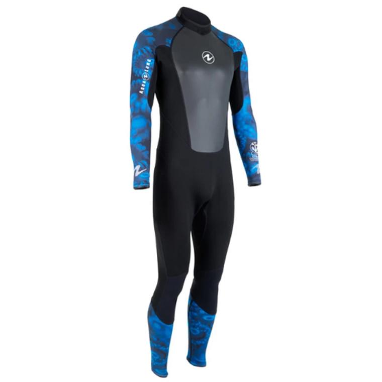 Aqua Lung Hydroflex 1mm Wetsuit - Men - Camo Blue