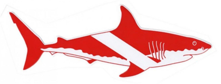 Large Dive Shark Sticker for Scuba and Snorkelers