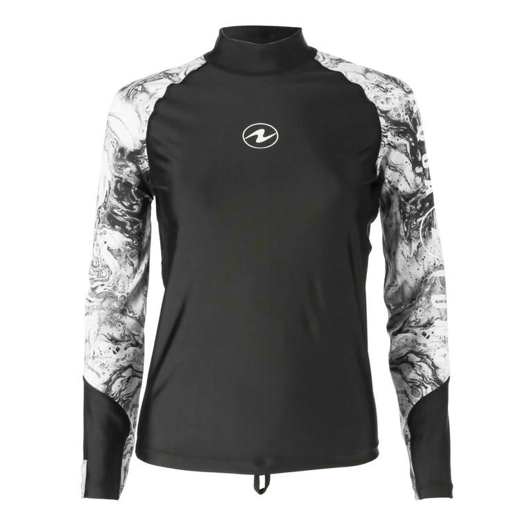 Aqua Lung Women Long Sleeve Rashguard - Black/White