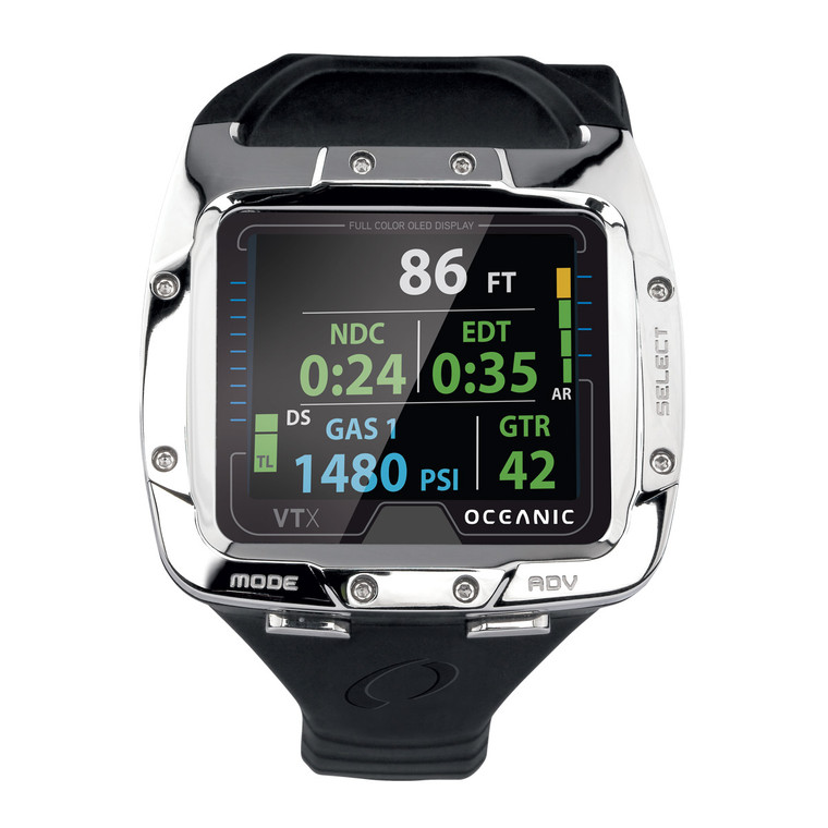 Oceanic VTX OLED Scuba Computer - Receiver Only