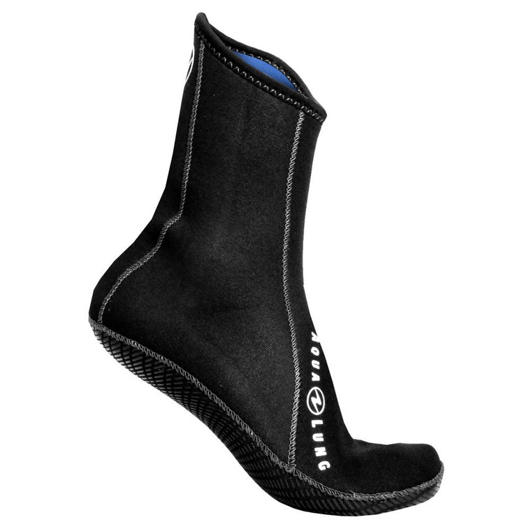 Aqua Lung Ergo Neoprene Socks High Top 3mm w/ Grip