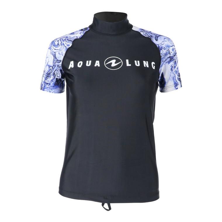 Aqua Lung Women's Short Sleeve Rashguard - Purple/White