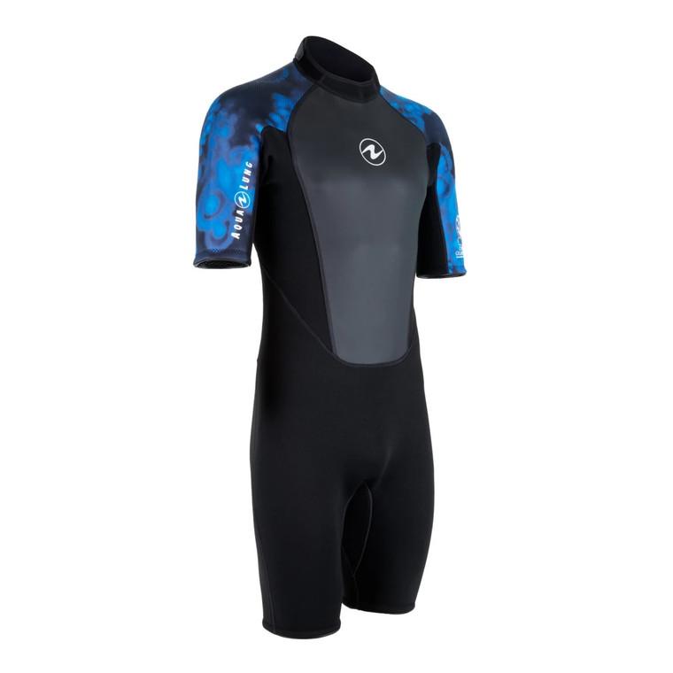 Aqua Lung Hydroflex 3mm Shorty Wetsuit - Men - Camo Blue