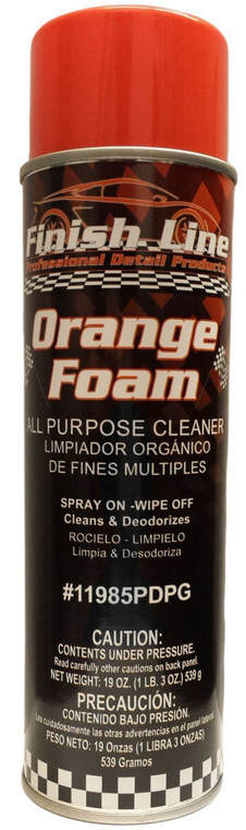 Finish Line Orange Foam All Purpose Cleaner - For Cars or Home