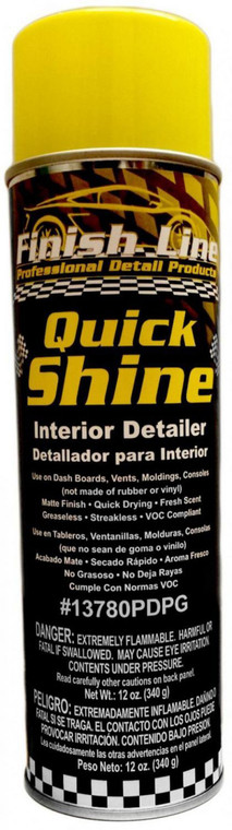 Finish Line Quick Shine - Professional Auto Interior Detailer