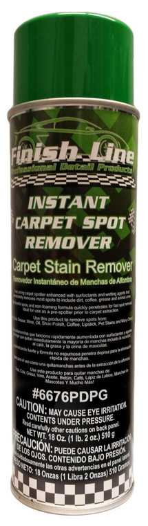 Finish Line Instant Carpet Spot Remover - Carpet Stain Remover For Cars or Home