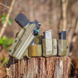 OD Green Glock 40 MOS Holster and Mag Carriers