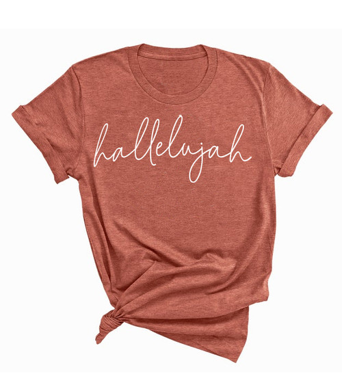 Hallelujah T-Shirt - Canyon Clay