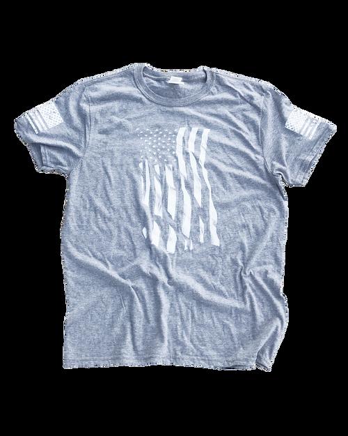 Dara Flag Print T-Shirt - Grey