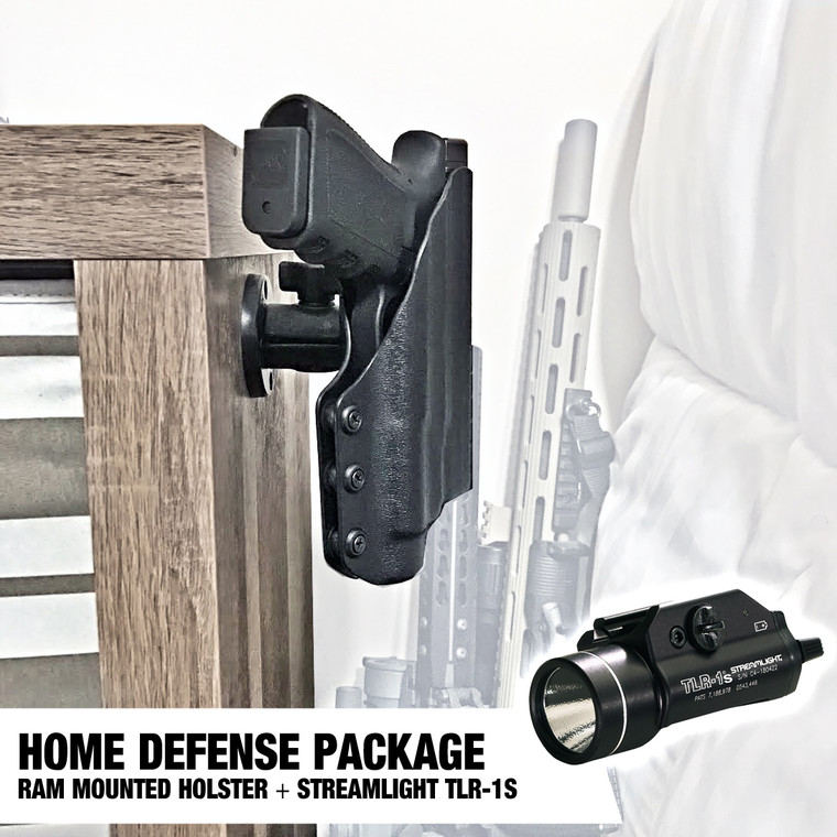 Home defense nightstand mounted Holster and Tactical Light