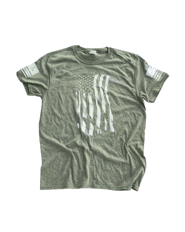 Dara Flag Print T-Shirt - Green