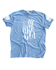 Dara Flag Print T-Shirt - Sky Blue