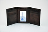 Goatskin Trifold Wallet with Suede-Lined Currency Pocket
