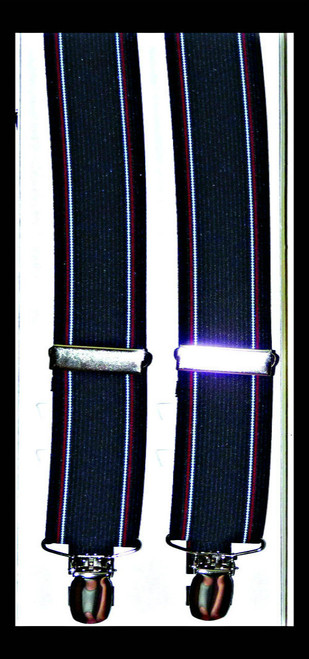 Striped Woven Elastic Suspenders