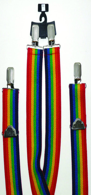 2-Inch Striped Terry Elastic Suspenders