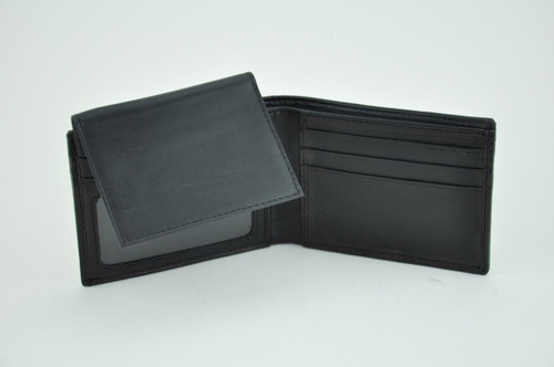 Soft Lambskin Leather Wallet with Zippered Currency Pocket