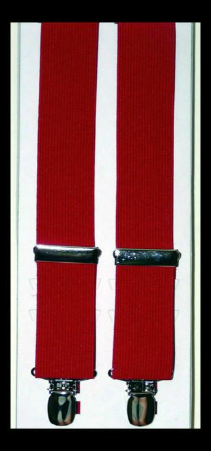 Woven Elastic Solid Color Suspenders