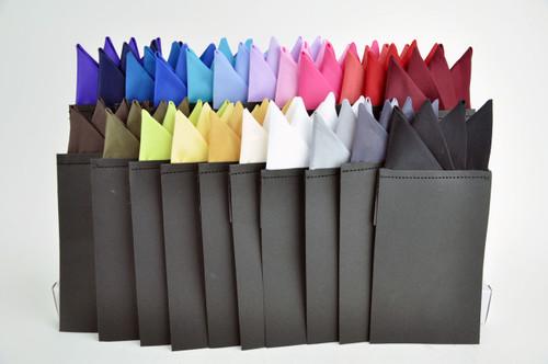 Solid Color Pre-folded Pocket Square