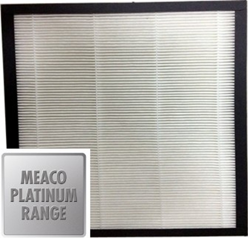 Meaco HEPA filter for the new Platinum Range dehumidifiers to provide excellent air cleaning capabilities. The replacement filter can be easily replaced and is suitable for all Platinum Dehumidifiers including the Meaco 12L (see related products).  Pack of 3
