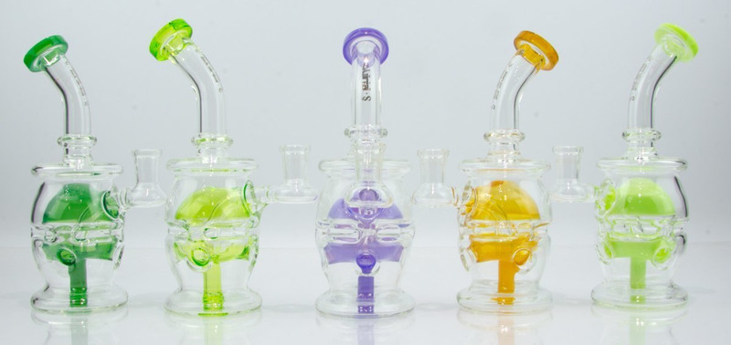 Small Faberge Colored Diffuser Egg Dab Rig