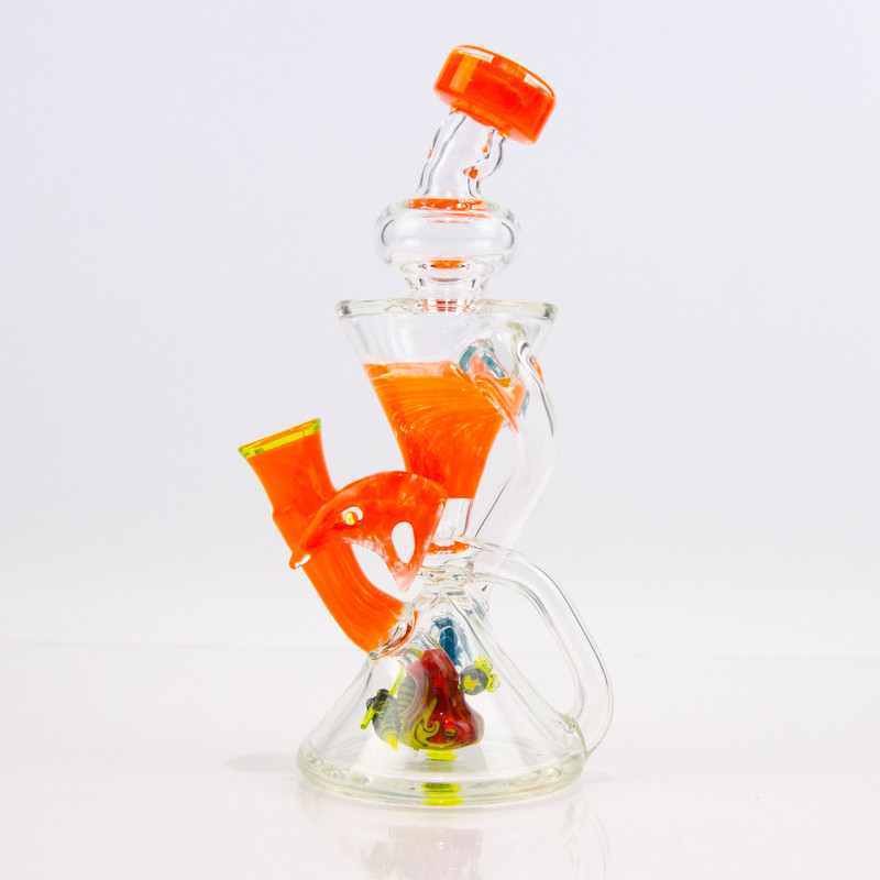 Recycler Design Glass Attachment for Puffco Peak Accessories Blue+Jade White