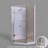 Glass shower unit