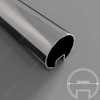 50.8mm Diam Slotted Round Tube (316 S/S Mirror)