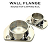 Wall Flange for 38.1mm Diam Round Top Capping Rail