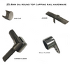 25.4mm Dia Round Top Capping Rail