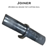 Joiner for 25.4mm Diam Round Top Capping Rail