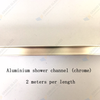 Channel for Shower (2 meters long) - Chrome