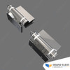 Spring Hinge for Glass Pool Gate (one pair, 90° glass to wall) - Polished