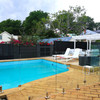 Top Fixing Round Mini Post Pool Fence System