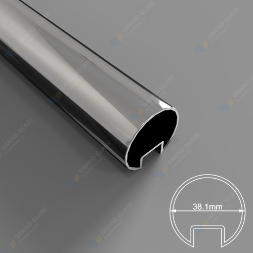 38.1mm Diam Slotted Round Tube (316 S/S Mirror)