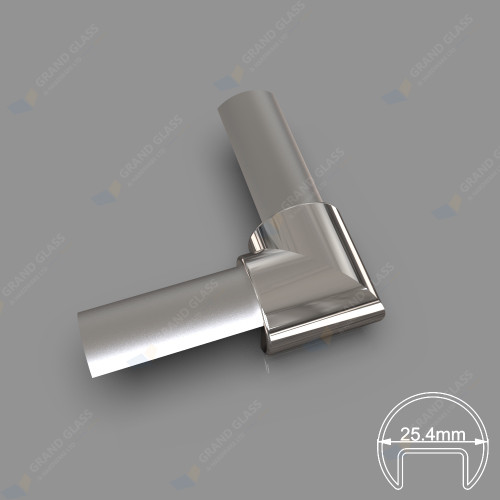 Corner Elbow for 25.4mm Round Top Capping Rail