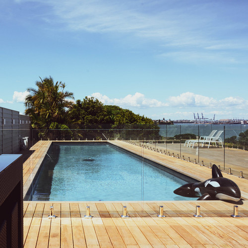 Top Fixing Square Mini Post Pool Fence System
