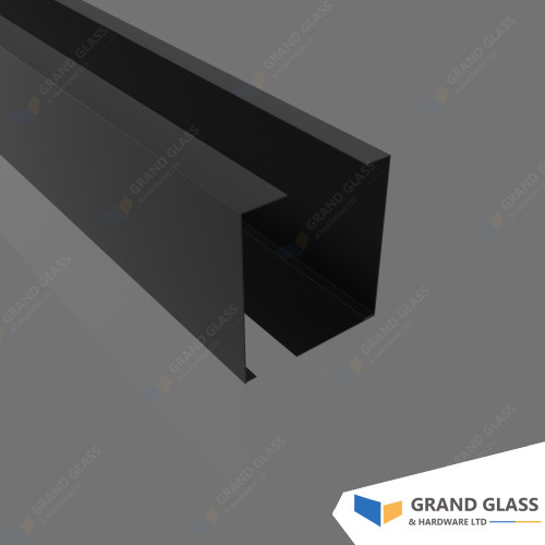 Channel Balustrade and Pool Fence - Matt Black Channel Cover